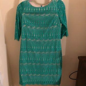 Dresses & Skirts - Green mini dress